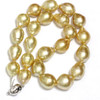 South Sea Pearl Baroque Necklace  17 - 14 MM Golden AAA-