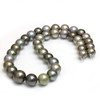 Tahitian Pearl necklace 13 - 10 MM AAA Soft Multicolor
