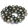 Tahitian Pearl Necklace  12 - 11 mm Multi Color AAA