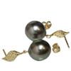 Tahitian Pearl Diamond Set Petal Collection AAA To AAA Flawless