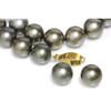 Tahitian Pearl Necklace 18 - 15 mm AAA Grey Chocolate
