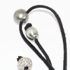 Tahitian Pearl Leather Necklace 13 MM Gray AAA