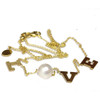 Akoya Pearl Love Necklace Adjustable Chain 14k Gold