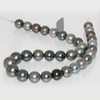 Tahitian Pearl Necklace 16 - 12 mm AAA- Soft Multicolor