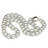 Akoya Pearl Necklace 8.5 - 8 MM AAA Blue Pistachio