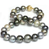 Tahitian Pearl Necklace 16 - 13 mm AAA- Multicolor
