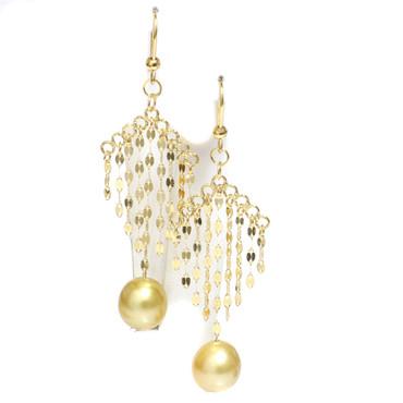 South Sea Pearl  Chandelier Earrings 10 MM AAA