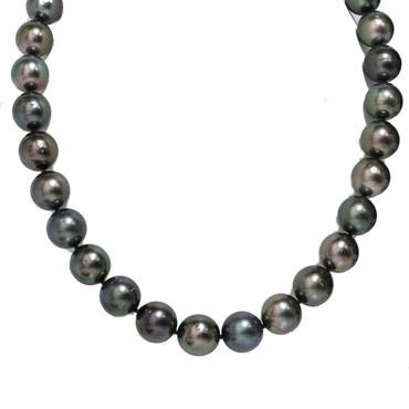 Tahitian Pearl Necklace 14 - 11mm Black AA
