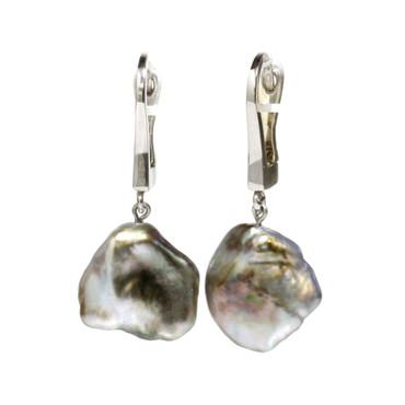 Tahitian Baroque Keshi Dangle Pearl Earrings