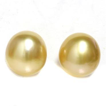 South Sea Pearl Stud Earrings 11.5 MM  AAA Golden