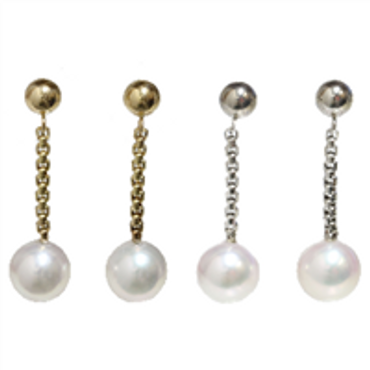 Japanese Akoya Pearl Dangle Earrings