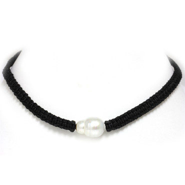South Sea Pearl Macrame Necklace 14 MM AAA-