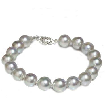 Akoya Pearl Bracelet 9 - 9.5 MM AAA Blue Baroque
