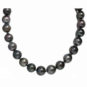 Tahitian Pearl Necklace  17.5 - 15 mm AAA- Black
