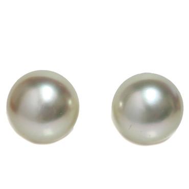 South Sea Pearl Stud Earrings 10 MM Ivory AAA
