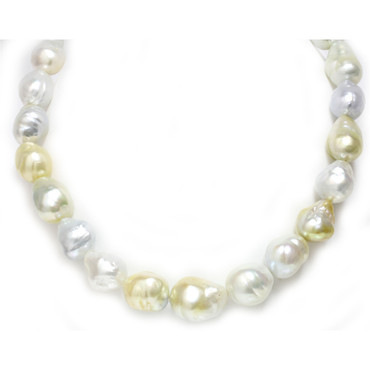 South Sea Baroque Pearl Necklace  18 - 14 MM AAA