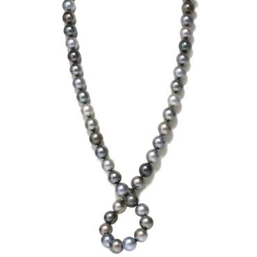 Tahitian Opera Pearl Necklace  15 - 14 mm AAA Fancy Multi Color