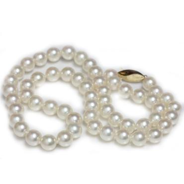 Akoya Pearl Necklace 8.5 - 9 MM AAA Flawless