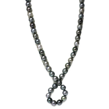 Tahitian Opera Pearl Necklace  14 - 13 mm AAA  Multi Color