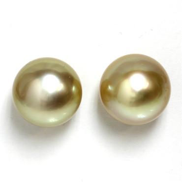 South Sea Pearl Stud Earrings 13 MM White AAA-