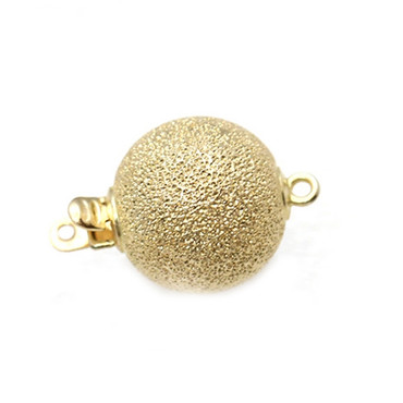 14kt Solid Yellow Gold Ball Stardust clasp 12 MM