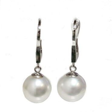 South Sea Pearl  Earrings 9.5 MM AAA