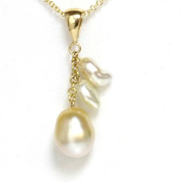 South Sea Keshi Bay Pearl Pendant AAA Flawless