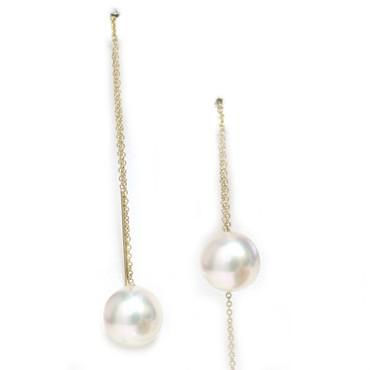 Akoya Pearl Threader Earrings