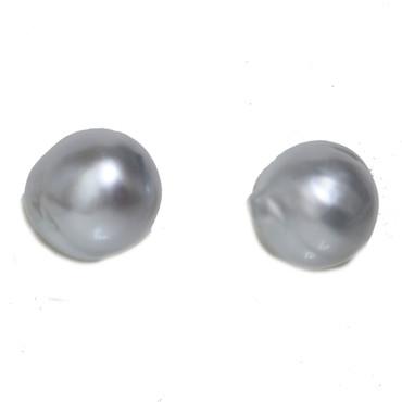 South Sea Baroque Pearl Stud Earrings 11.5 MM  AAA