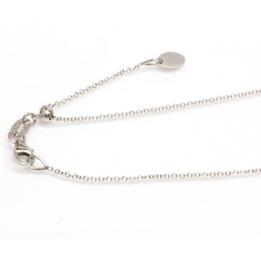 """14kt White Gold ADJUSTABLE Chain 14"""" 16"""",18"""" 20""""All in 1 Easy slide and adjust"""