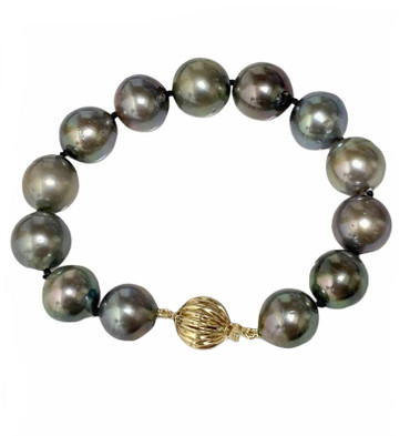Tahitian Pearl  Bracelet 12 - 11 MM AAA-