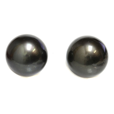 Tahitian Pearl Earrings 13MM Black AAA-