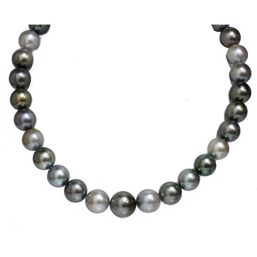Tahitian Pearl Necklace 16 - 13 mm AAA- Multi Color