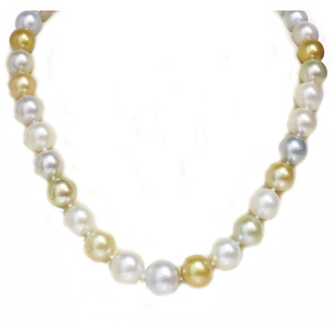 South Sea Pearl Necklace  14.5 - 10 MM Multi Color AAA