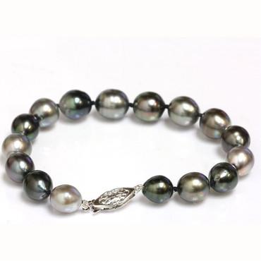 Tahitian Pearl Bracelet 10- 8.5 MM AAA- Multi Color