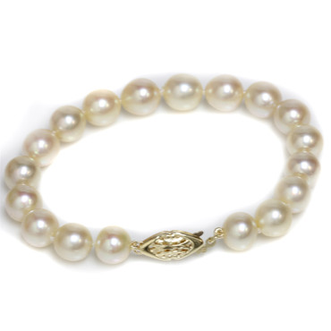 Akoya Pearl Bracelet 8.5 - 9  MM AAA Ivory