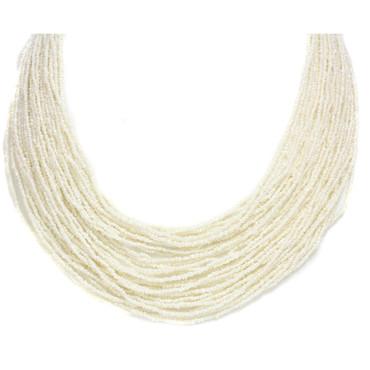 Saltwater Akoya Keshi Pearl Multi Row Necklace AAA