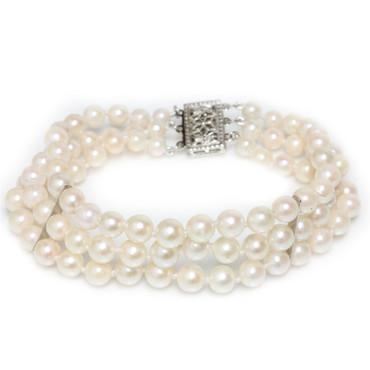 Akoya Pearl Graduated Bracelet 6 - 4 MM  AAA-