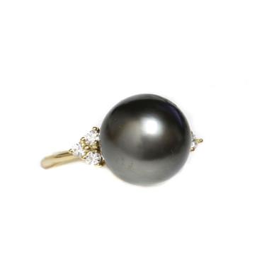 Tahitian Pearl & Diamond Jessica Ring