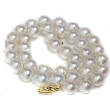 Akoya Baroque Pearl Necklace  9 - 9.5 MM AAA