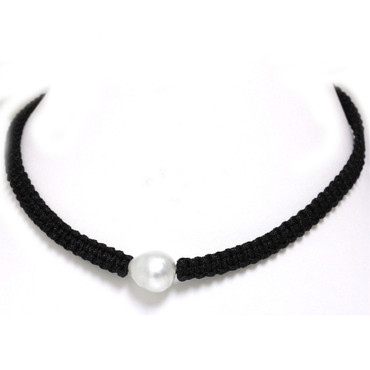 South Sea Baroque Pearl Macrame Necklace 14 MM AAA Flawless