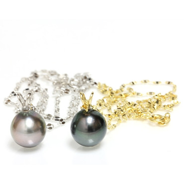 Tahitian Pearl Pendant 14kt 10 MM AAA Chain Included