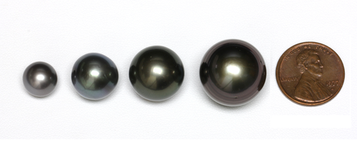 Sizes of Saltwater Pearls