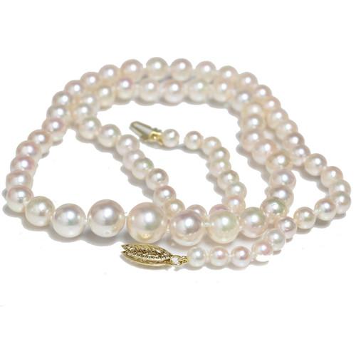 Akoya Graduated Pearl Necklace  9 - 4 MM AAA