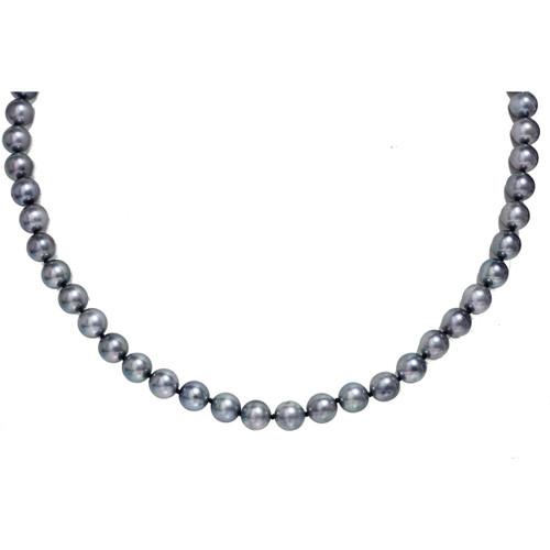 Akoya Pearl Necklace 7.5 - 8 MM Gray Blue AAA