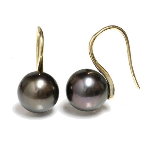 Tahitian Pearl Hook Earrings
