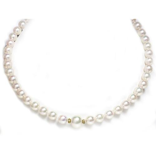 Akoya & South Sea Pearl Necklace 9 - 8.5 MM AAA