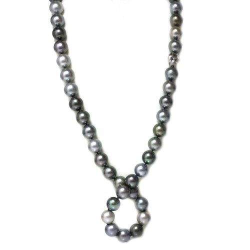 Tahitian Opera Pearl Necklace  16 - 15 mm  MultiColor