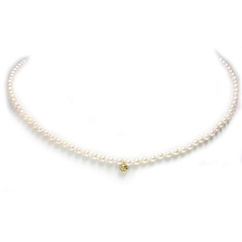 Akoya Pearl Necklace with center piece 4 - 4.5 MM AAA