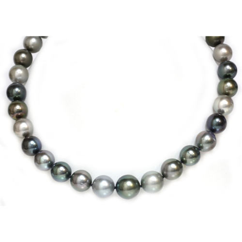 Tahitian Pearl necklace 16 - 13 MM AAA- Multicolor 1